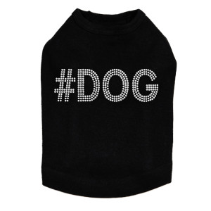 #DOG rhinestone dog tank for large and small dogs.