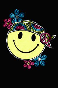 Happy Face Hippy - Women's T-shirt