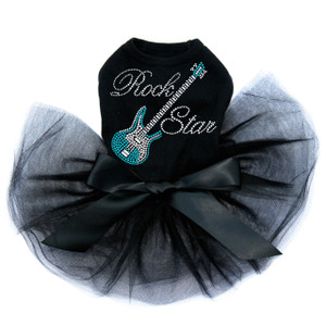 Guitar (Blue Swarovski) with Rock Star Tutu