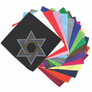 Star of David Blue & Gold (Large) - Bandanna