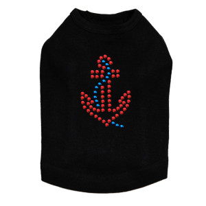Anchor - Red dog tank for small and big dogs