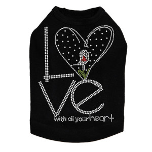 Love With All Your Heart Love Bird - Dog Tank
