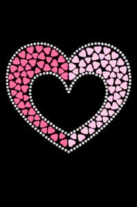Pink & Light Pink Nailhead Hearts - Women's T-shirt