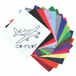 Co-Pilot Airplane (black) - Bandanna