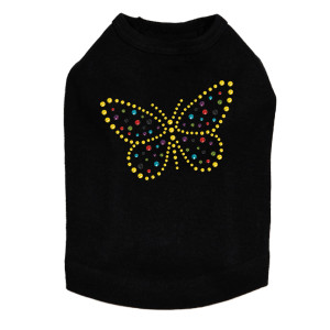 Yellow Dotted Butterfly - Dog Tank