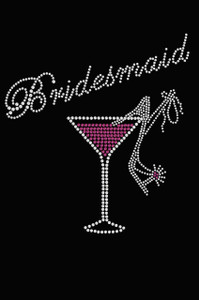 Bridesmaid with Drink & High Heel Shoe - Women's T-shirt
