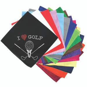 I Love Golf (Large) - Bandanna