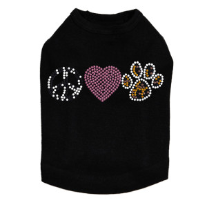 Peace, Love, Paw (Animal Print)  Dog Tank