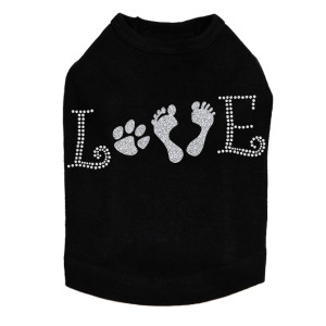 Love with Paw & Feet - Dog Tank