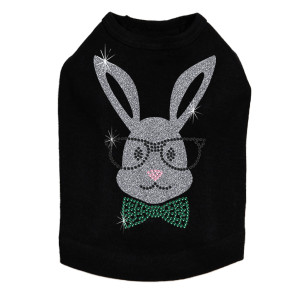Bunny with Glasses and Bow Tie - Dog Tank