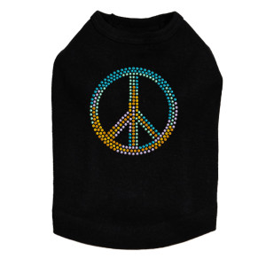 Peace Sign (Blue, Orange, Yellow, & Green) Dog Tank