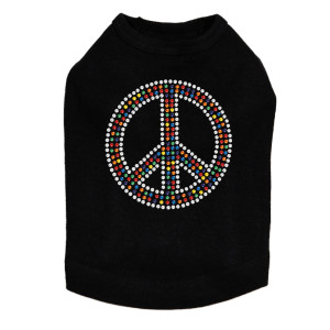 Peace Sign (Multicolor) Dog Tank