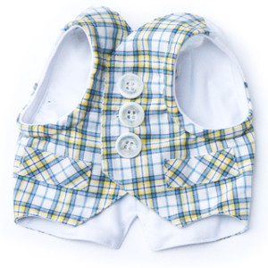 The Lawrence Blue Plaid Vest