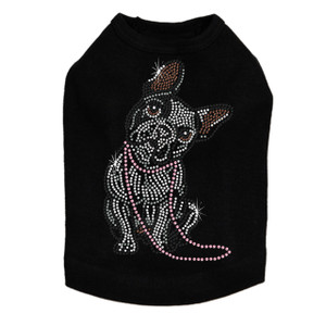 French Bull Dog with Necklace - Dog Tank