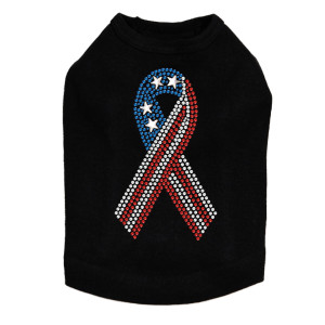 Ribbon (Red, White, & Blue) Dog Tank