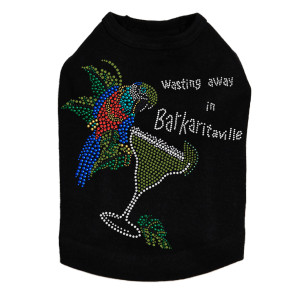 Wasting Away in Barkaritaville Parrot - Dog Tank