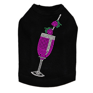 Strawberry Daiquiri - Swarovski Rhinestones - Dog Tank