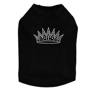 Crown # 2 - Rhinestones - Dog Tank