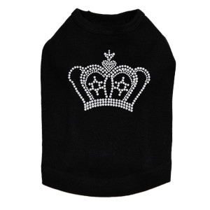 Crown #12 - Rhinestones - Dog Tank