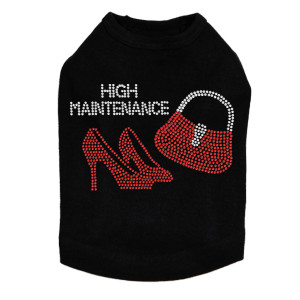 High Maintenance (Red Heels & Purse) Dog Tank