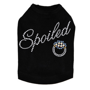 Spoiled (Swarovski Saphire Ring ) Dog Tank