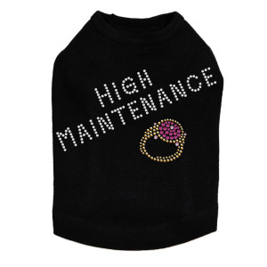 High Maintenance (Swarovski  Fuchsia Ring) Dog Tank