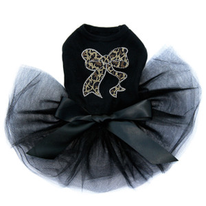 Bow - Leopard Tutu for large and small dogs.