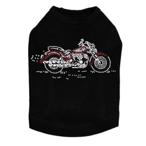 Motorcycle - Large Red & Black - Dog Tank