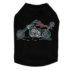 Motorcycle - Red, White, & Turquoise - Dog Tank