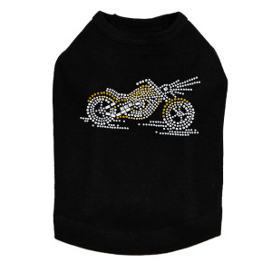 Motorcycle - Small Gold - Dog Tank