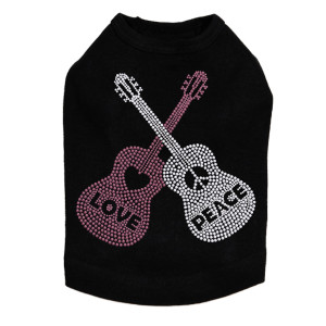 Guitars, Love & Peace Dog Tank