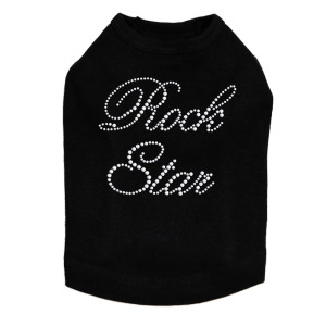 Rock Star (Silver) Dog Tank