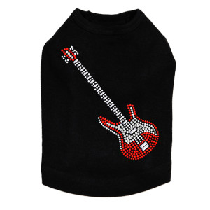 Guitar (Red Swarovski) Dog Tank
