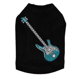 Guitar (Blue Swarovski) Dog Tank
