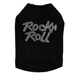 Rock n Roll (Rhinestone) Dog Tank