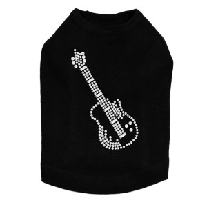 Guitar (Rhinestone) Dog Tank