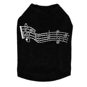 Music Notes Dog Tank