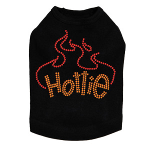 Hottie rhinestone dog tank for large and small dogs.