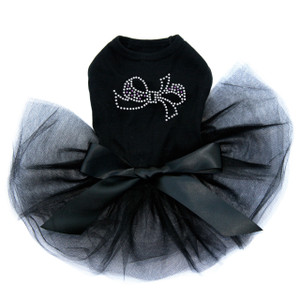 Bow - Purple & Silver rhinestone dog tutu for large and small dogs.