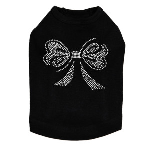 Bow - Rhinestones dog tank for large and small dogs.