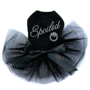 Spoiled - Swarovski Saphire Ring dog tutu for large and small dogs.