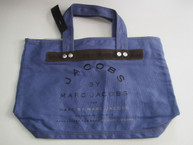 Canvas Zipper Tote Bag *NAVY BLUE* New with Defects