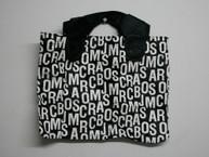 Black & White Letter Tote Bag / Handbag