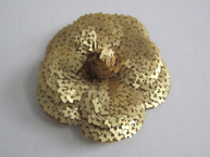 Gold Sequin Camellia Flower Sticker