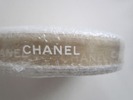 """50 METERS Roll - Gold Ribbon with White Letters 3/4"""""""