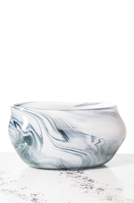 Daytona Vase - Marbled Gray