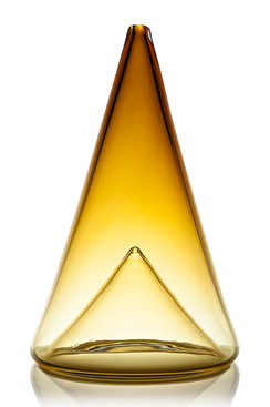 Cone with Cone Inset - Amber Gold