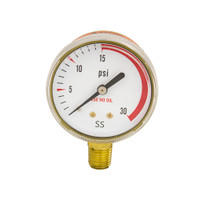 "Steel Regulator Gauge 2"" x 30PSI"