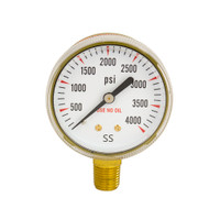 "Steel Regulator Gauge 2"" x 4000 PSI"