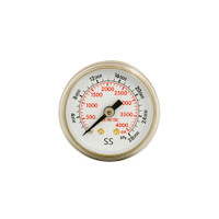 "Steel Center Regulator Gauge 2 1/2"" x 4000 PSI"